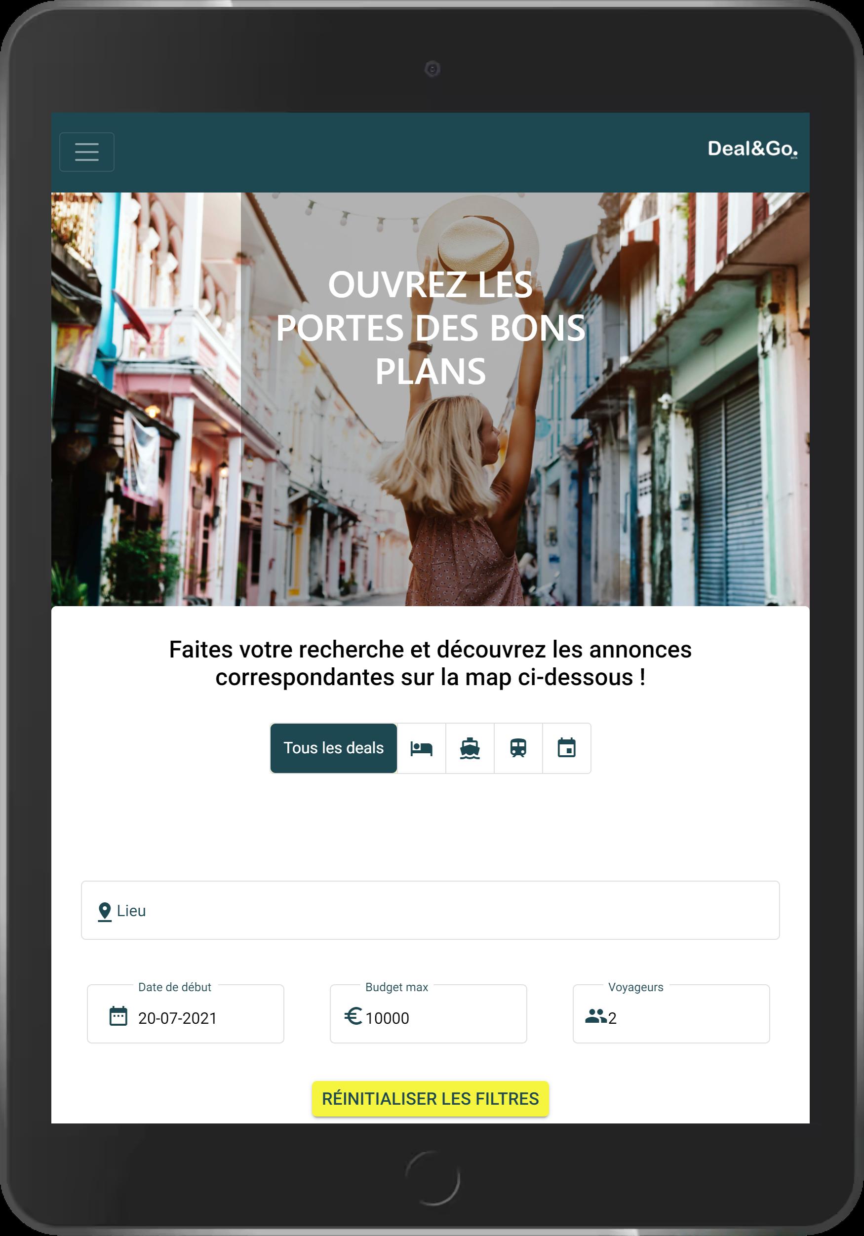 page accueil dealandgo.fr, plateforme collaborative