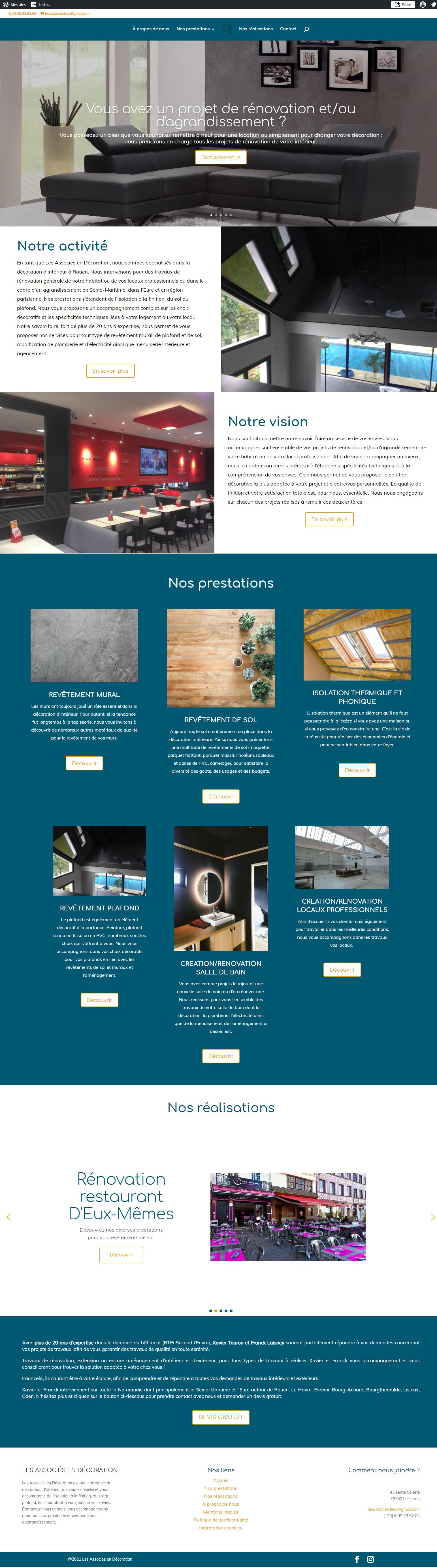 lesassociesdeco.fr - Les Associés en Décoration. Créé par l'agence de marketing et communication Digibirds.